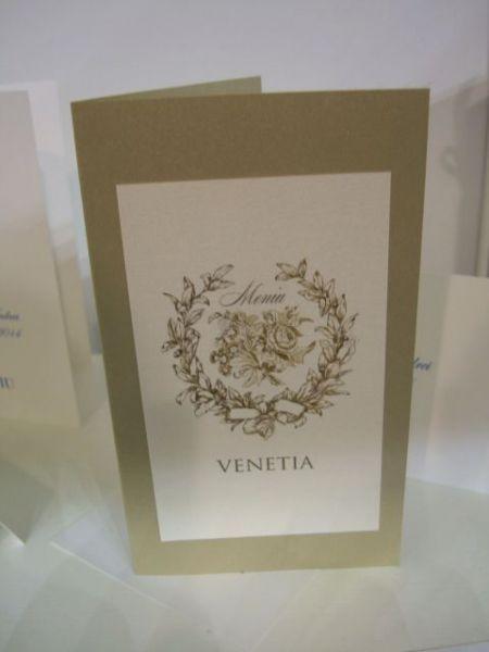 Meniu de nunta, design vintage cu trandafiri - poza 2