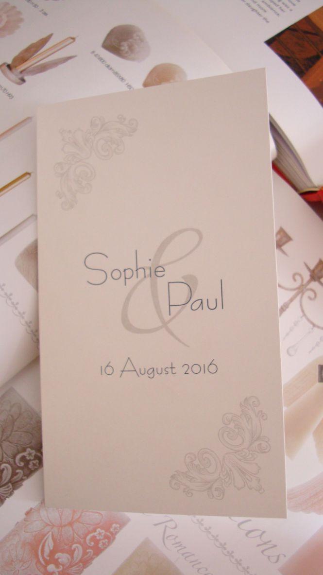 Meniu pentru nunta, model regal argintiu - poza 1
