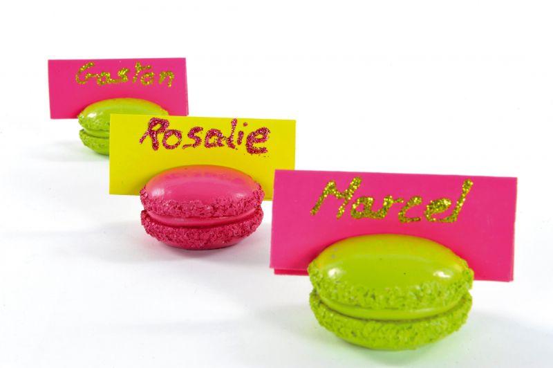 Macaron suport cards roz - poza 2