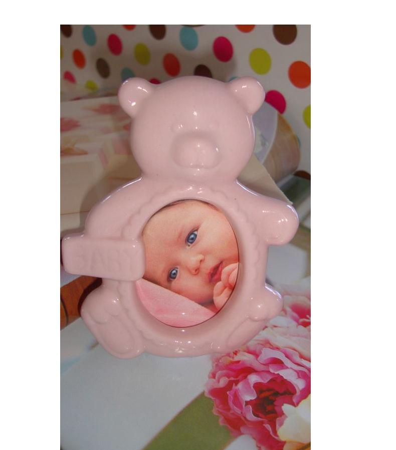 Rama foto ursulet roz portelan - poza 2
