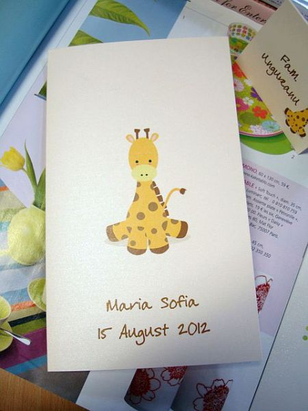 Meniu pentru masa cu girafa vesela - poza 1
