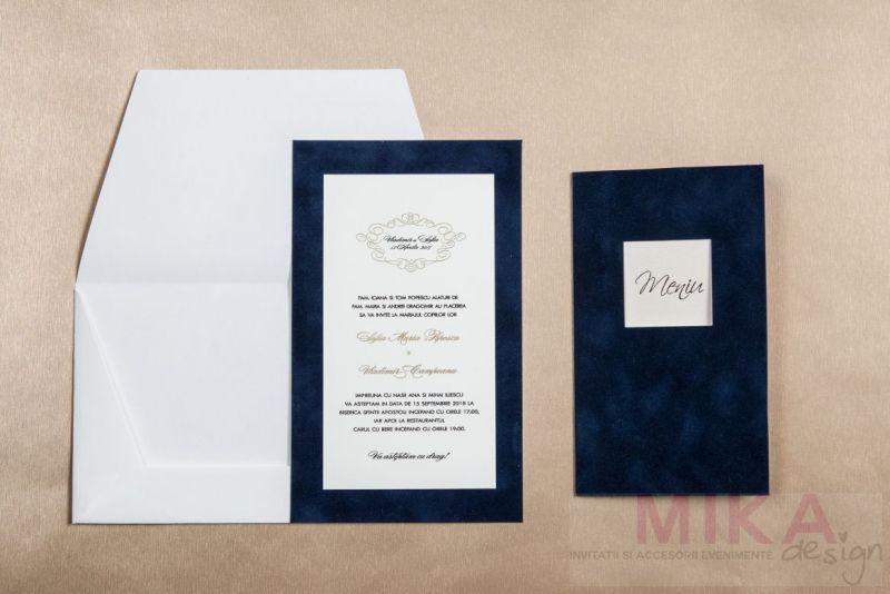 Meniu catifea albastra - poza 3