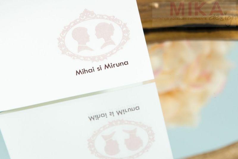 Meniu nunta camee vintage - poza 1