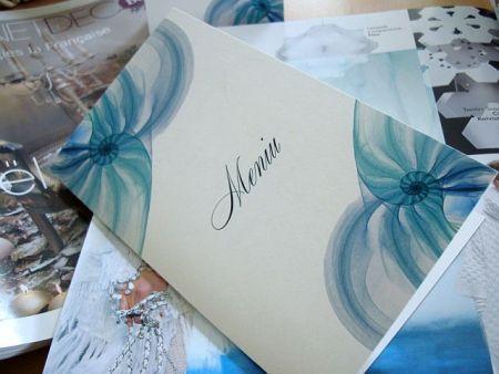 Meniu de nunta cu tematica marina stilizata - poza 1
