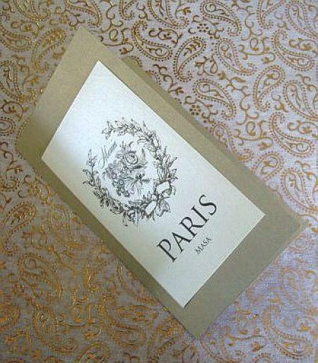 Meniu de nunta, design vintage cu trandafiri - poza 1