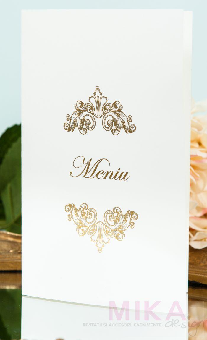 Meniu nunta elegant cu auriu sidefat - poza 1