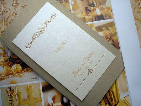 Meniu nunta elegant auriu - poza 3