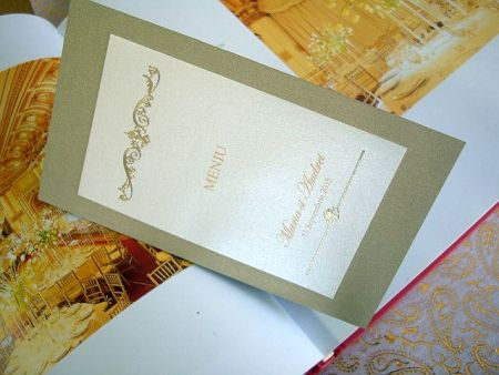 Meniu nunta elegant auriu - poza 1