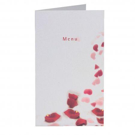 Meniu nunta cu petale trandafiri rosii - poza 1