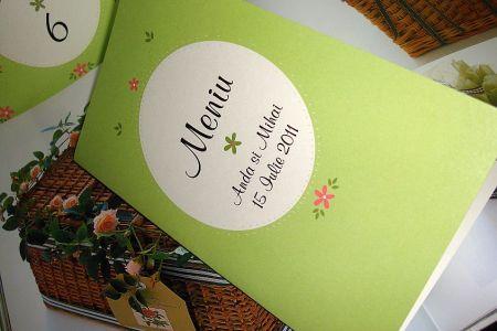 Meniu nunta pe carton - poza 1