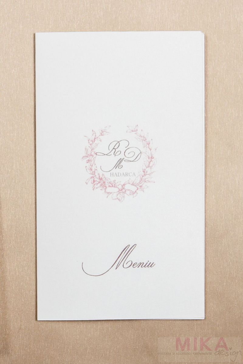 Meniu nunta si botez cu monograma - poza 1