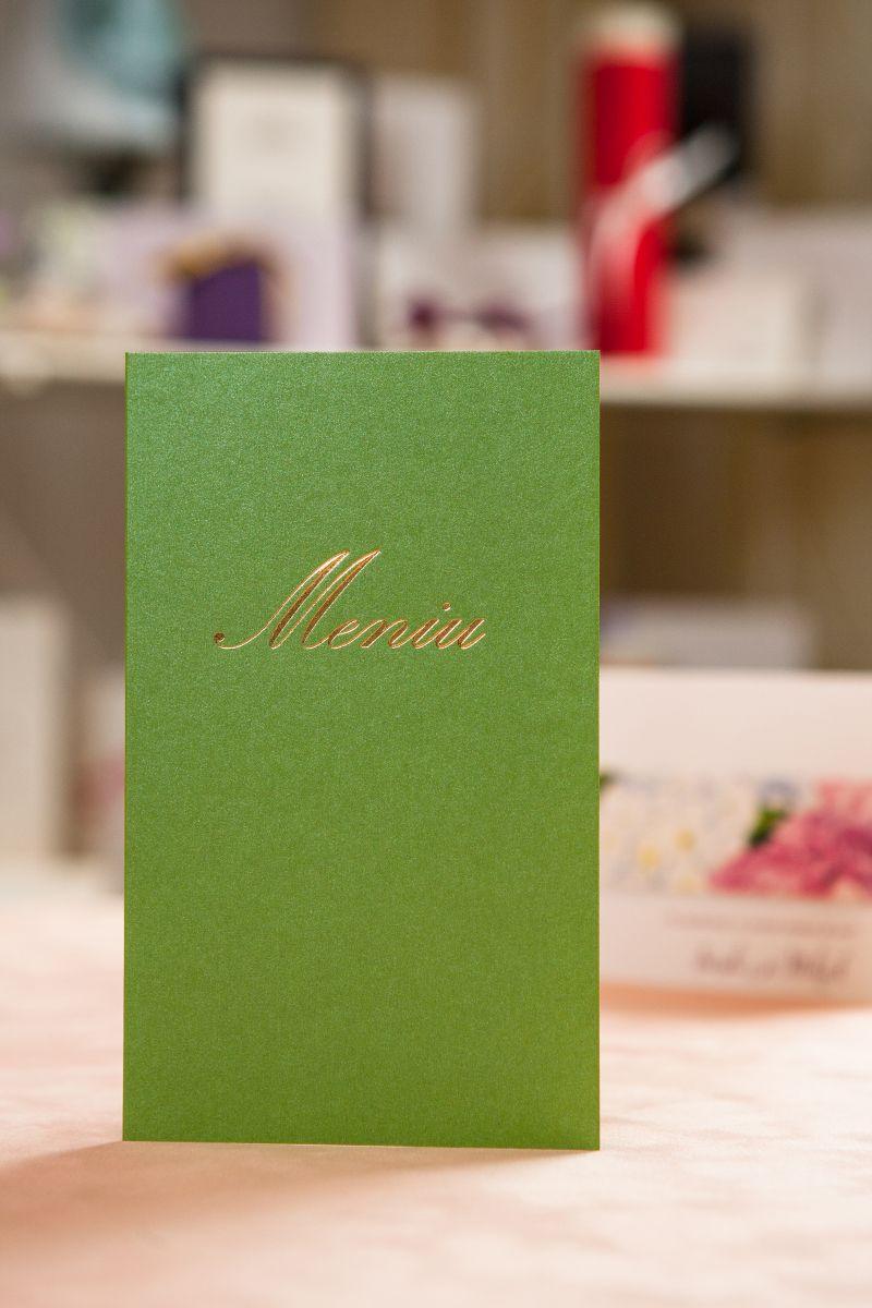 Meniu nunta verde cu auriu - poza 1