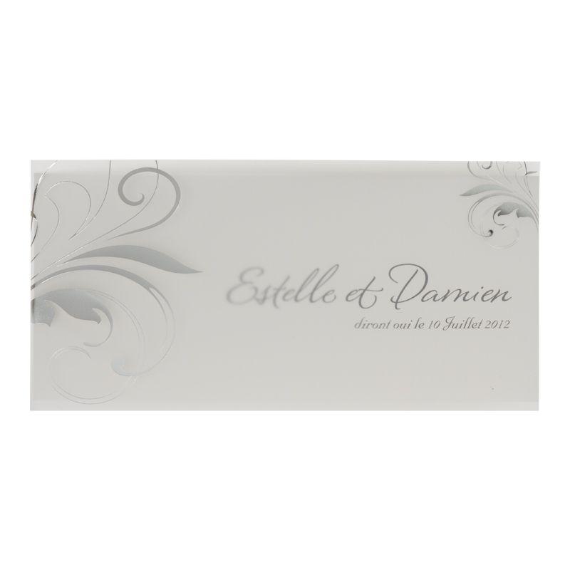 Invitatii de nunta cu elemente design argintiu - poza 3