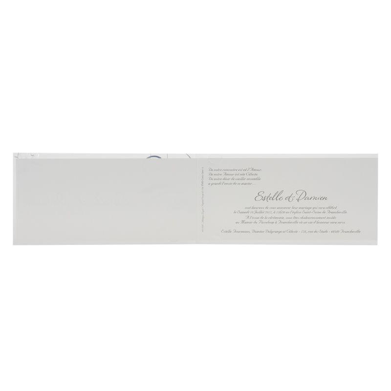 Invitatii de nunta cu elemente design argintiu - poza 2