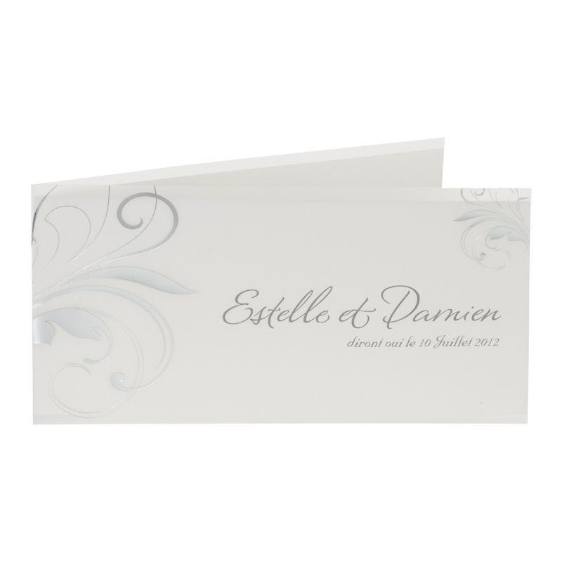Invitatii de nunta cu elemente design argintiu - poza 1