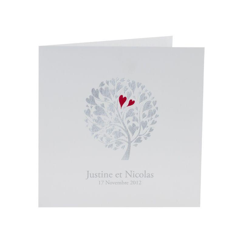 Invitatie nunta cu pomisor  auriu si inimioare rosii - poza 5