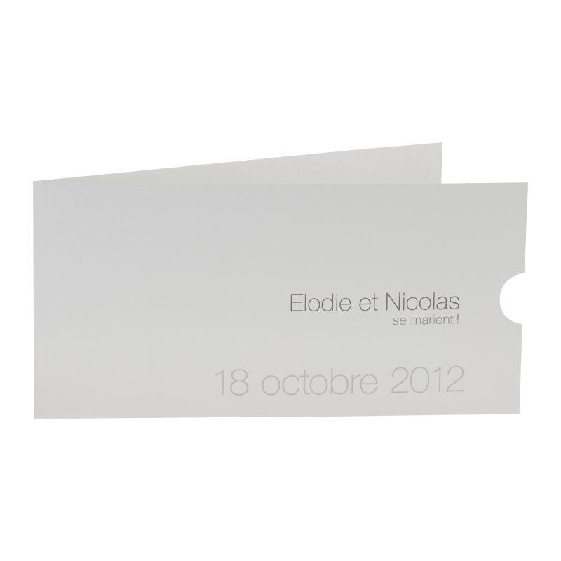 Invitatie nunta cu fotografia mirilor personalizata pe calc - poza 3