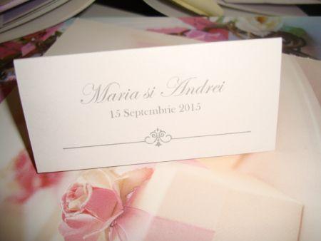 Carduri masa nunta elegant - poza 2
