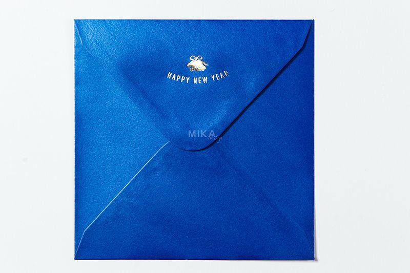 Plic albastru sidefat personalizat - poza 2