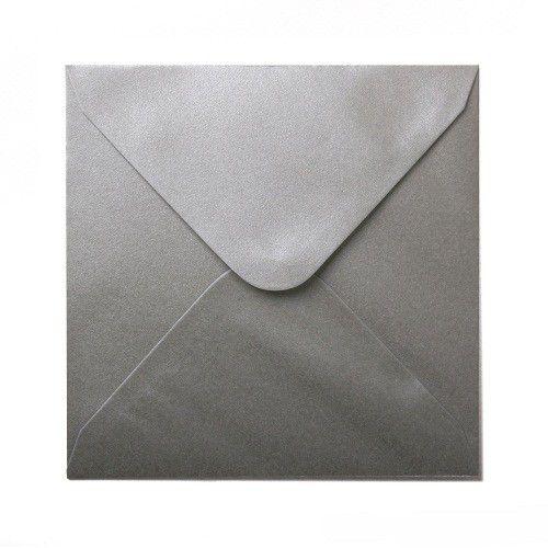 Plic patrat sidefat Platinum Silver