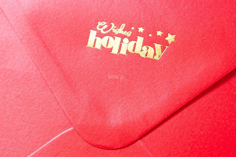 Plic rosu sidefat personalizat - poza 1