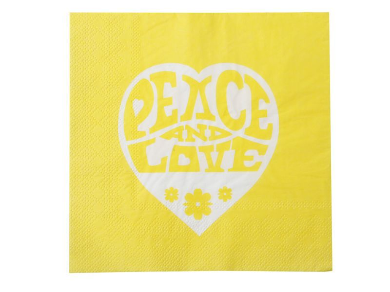 Servetele Love & Peace, set 20 bucati