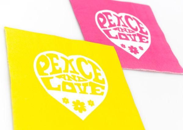 Servetele Love & Peace, set 20 bucati - poza 2
