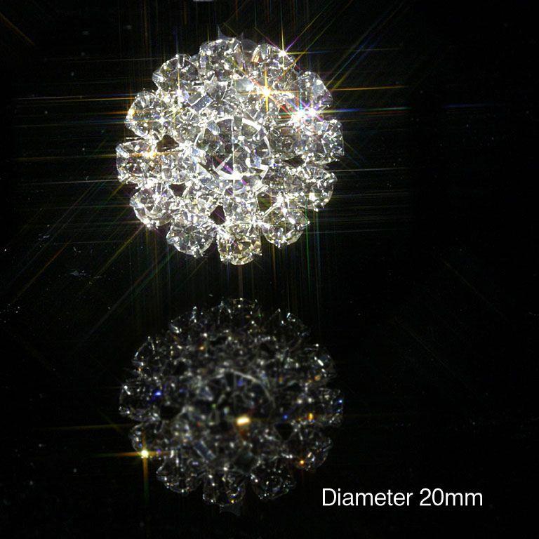 accesoriu cristal rotund