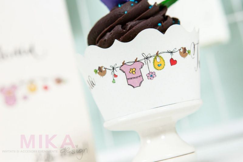 Ambalaj cupcake haios pentru botez fetite - poza 2