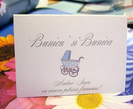 Carduri botez cu carucior bleu - poza 1