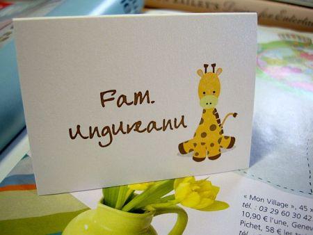 Card masa cu girafa galben si maro - poza 2