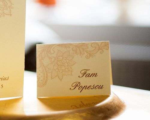 Card de masa nunta dantela crem - poza 1