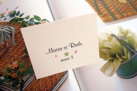 Card cu numele invitatului, tematica garden party - poza 1