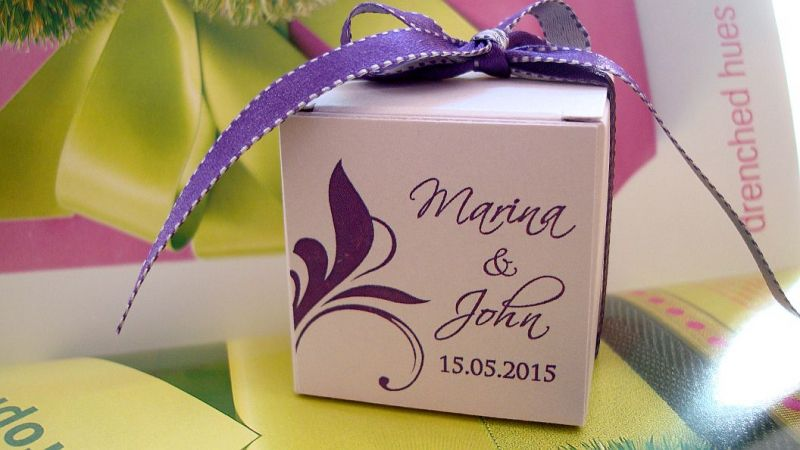 Cutiuta marturie nunta mov imperial - poza 1