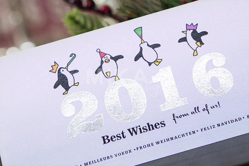 Felicitare Craciun 2016 cu pinguini haiosi - poza 2