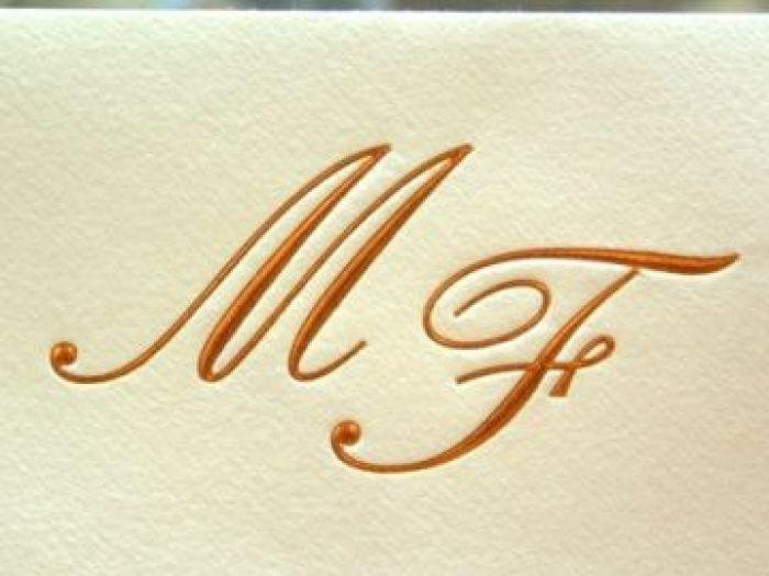 initiale miri in relief bronz
