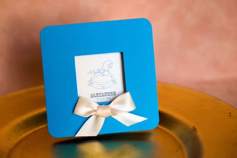 Invitatie botez baiat bleu - poza 1