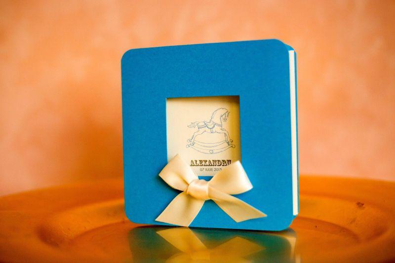 Invitatie botez baiat bleu - poza 2
