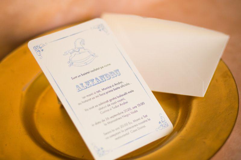 Invitatie botez baietel cu calut bleu - poza 2