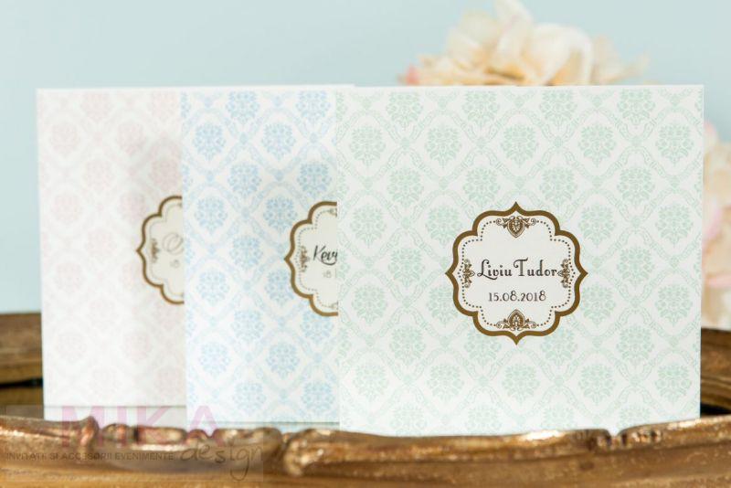Invitatie botez fetita damask rose - poza 3