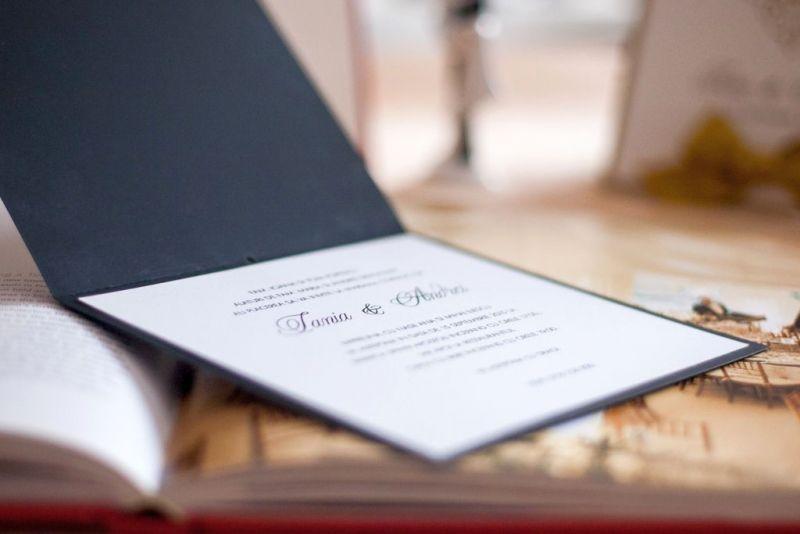 Invitatie nunta alb negru - poza 4