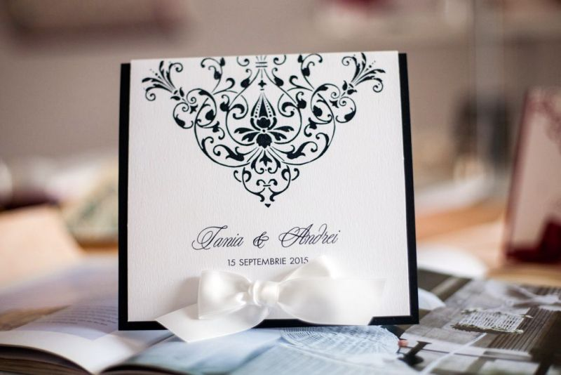Invitatie nunta alb negru - poza 1