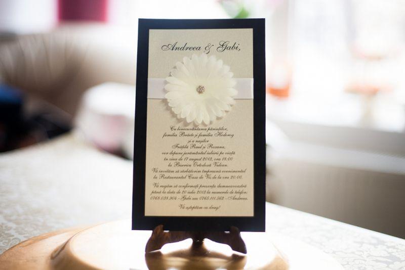 Invitatie nunta catifea neagra - poza 2