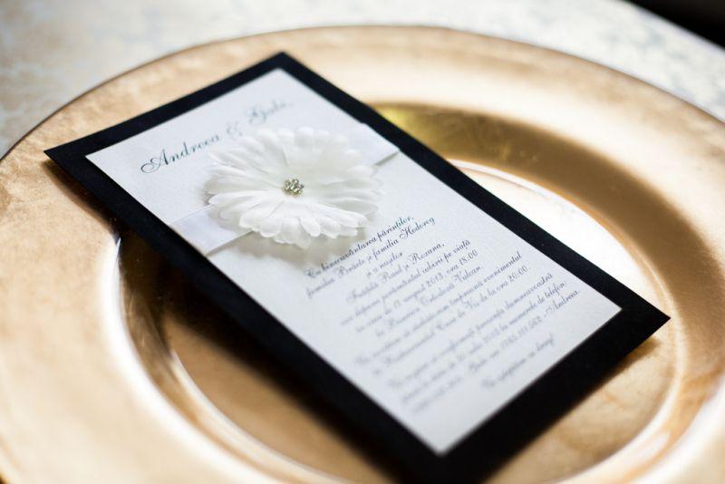 invitatie nunta catifea neagra