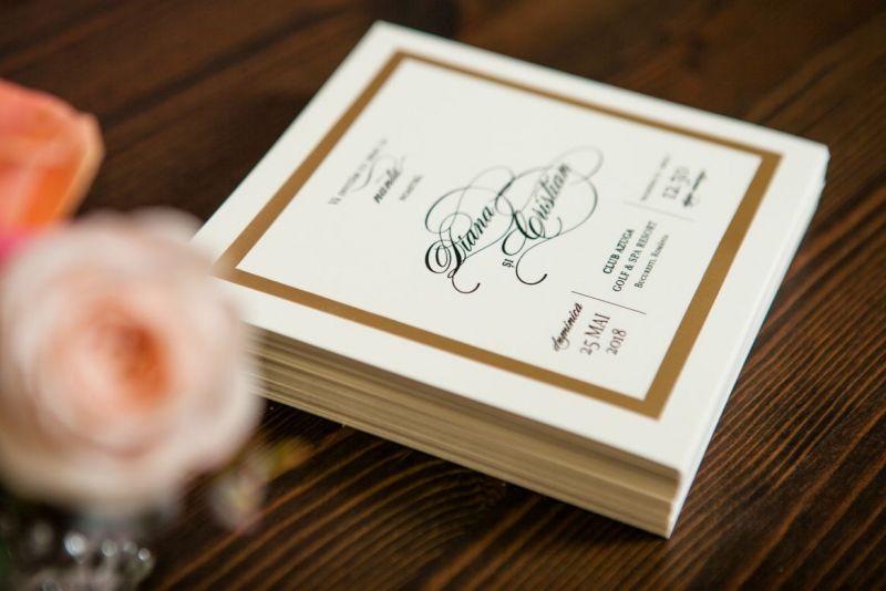 Invitatie nunta cu cadran auriu - poza 2