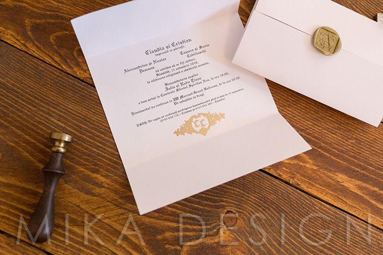 Invitatie nunta cu sigiliu auriu - poza 1