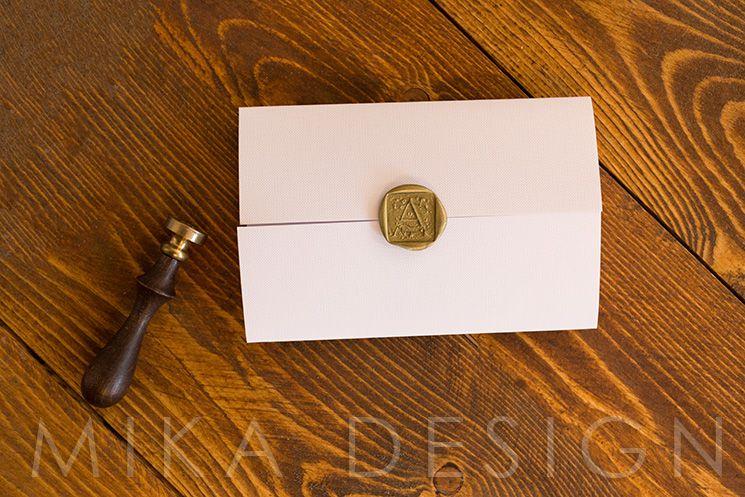 Invitatie nunta cu sigiliu auriu - poza 2