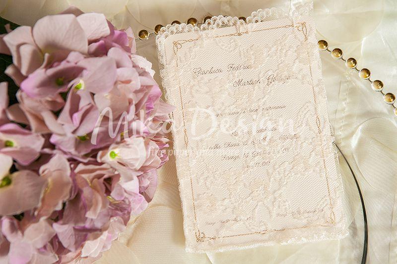 Invitatie nunta dantela - poza 1