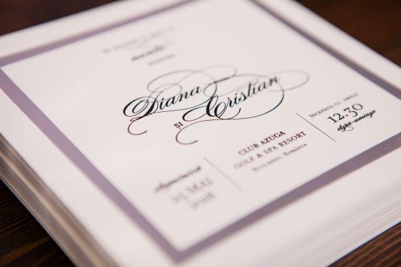 Invitatie nunta eleganta cadran argintiu - poza 1