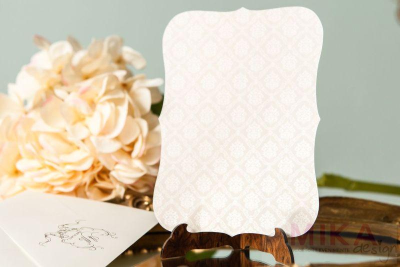 Invitatie nunta eleganta cu fundal damask - poza 5